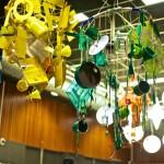 kroonluchter blauw-muziek/(beeldende) kunst; geel-koffie/thee ceremonie; groen-culinaire