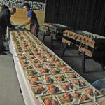 Ontvangst met Nederlandse huzarensalade uit Suriname